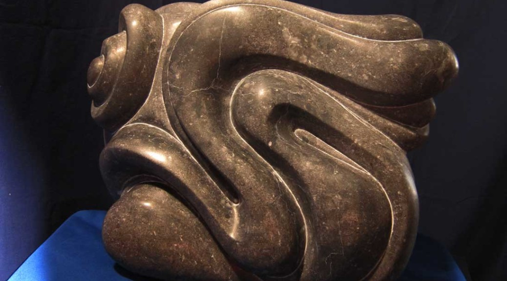 """Undulation"" Stone Carving by Artist Rick Clement"