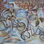 Bikers Breeze Oil Painting 1998 Sold