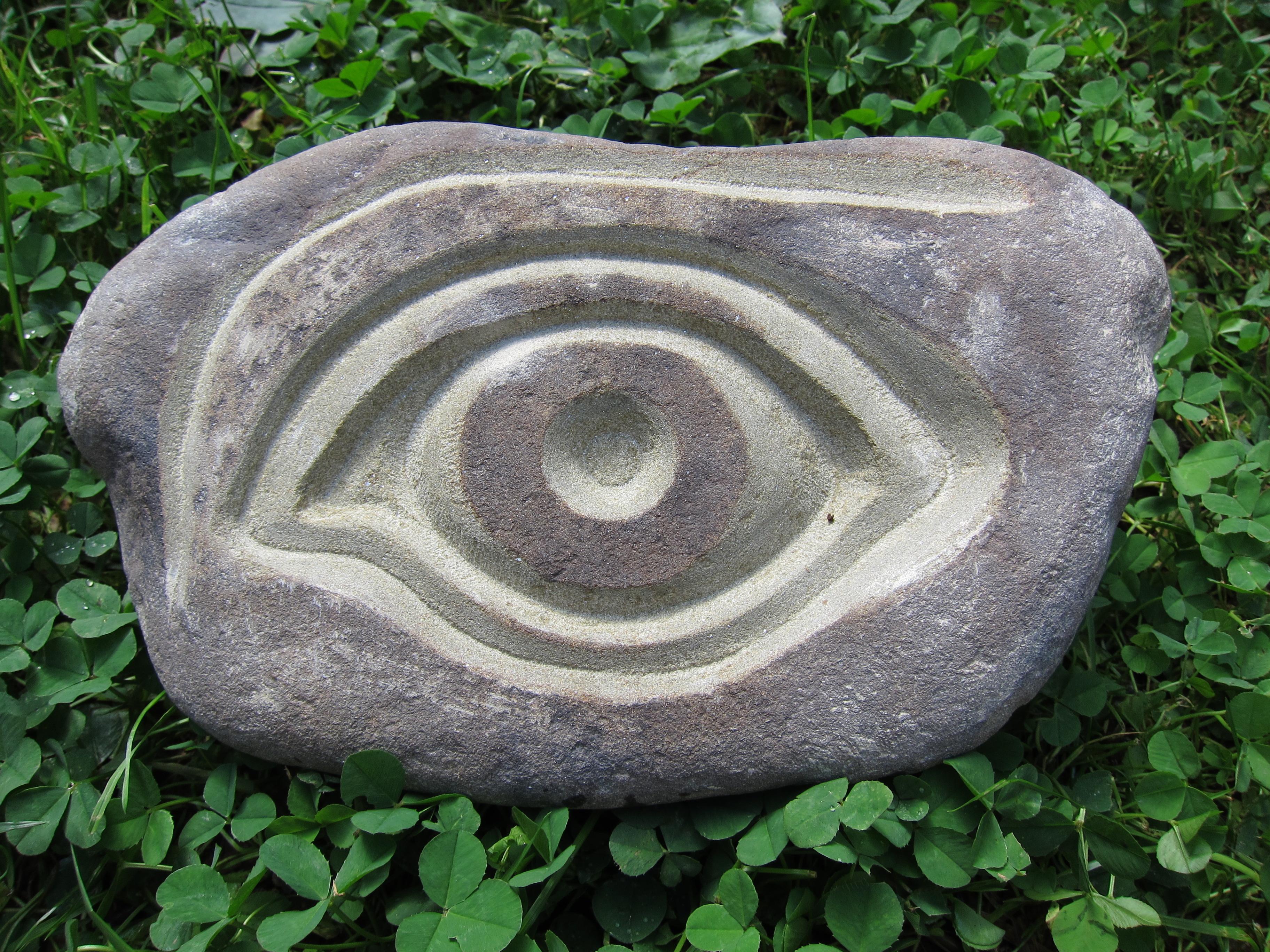 Engraved River Rock Sandstone Sold 2012