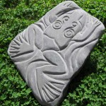 """""""Leap Frog"""" Still available contact Rick@rickclement.com Engraved River Rock Sandstone"""