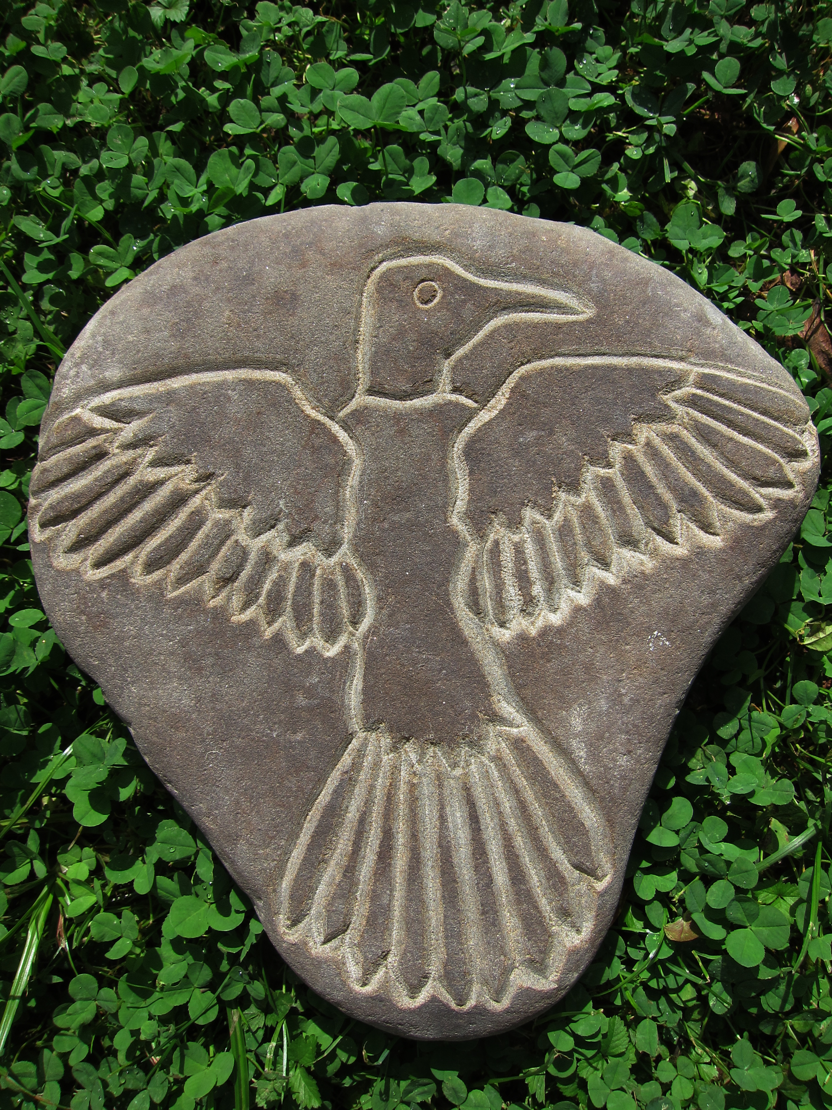 """""""Beating the Spread"""" Engraved River Rock Sandstone Sold 2012"""