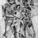 Cubist drawing of Man and Woman by Rick Clement